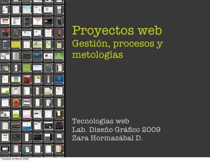 Proyectos web                         Gestión, procesos y                         metologías                             T...