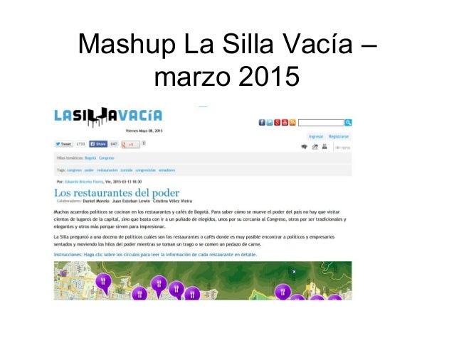 Mashup La Silla Vacía – marzo 2015