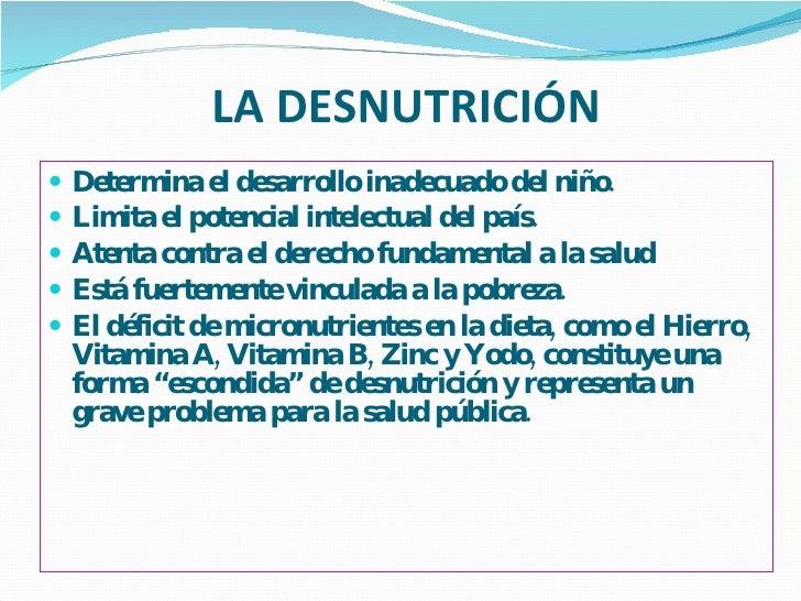 Malnutrición por micronutrientes Slide 2
