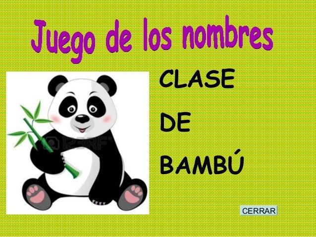CERRAR CLASE DE BAMBÚ