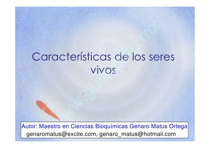 x                                          . m    Características de los seres    o m               vivos                 ...