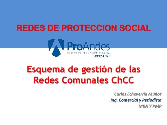 REDES DE PROTECCION SOCIAL Carlos Echeverría Muñoz Ing. Comercial y Periodista MBA Y PMP Esquema de gestión de las Redes C...