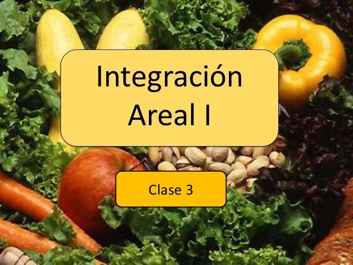 Integración Areal I<br />Clase 3<br />