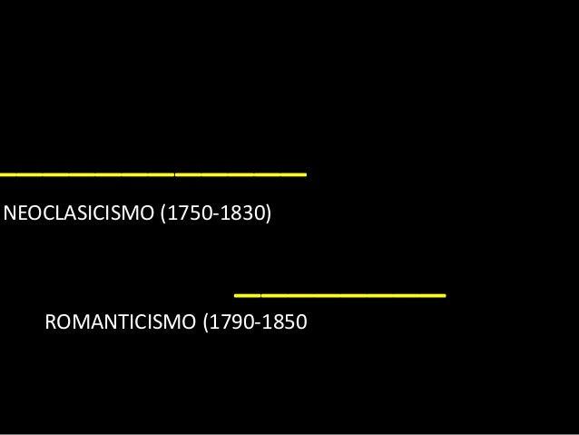 ____________ NEOCLASICISMO (1750-1830) ________ ROMANTICISMO (1790-1850