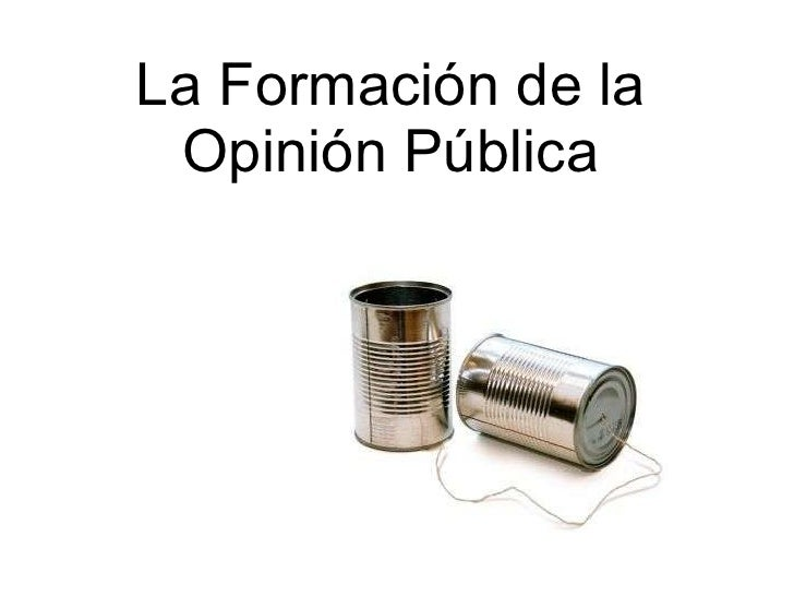 La Formación de la Opinión Pública