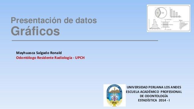 Presentación de datos  Gráficos  UNIVERSIDAD PERUANA LOS ANDES  ESCUELA ACADÉMICO PROFESIONAL  DE ODONTOLOGÍA  ESTADÍSTICA...