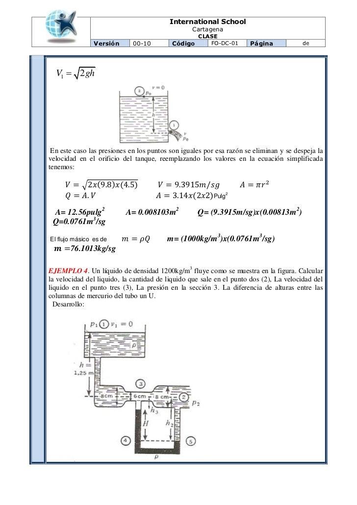 Clase 4 principio de bernoulli for Diferencia entre tanque y estanque
