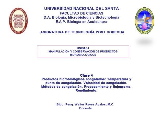 UNIVERSIDAD NACIONAL DEL SANTA          FACULTAD DE CIENCIAS D.A. Biología, Microbiología y Biotecnología        E.A.P. Bi...