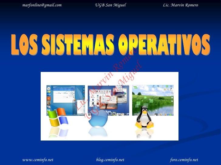 marfonline@gmail.com         UGB San Miguel     Lic. Marvin Romero                                         el o           ...