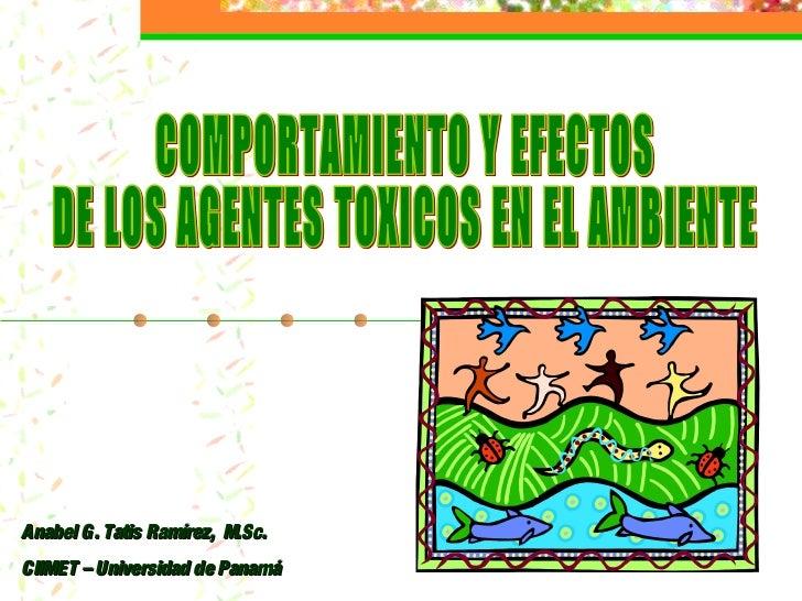 Anabel G. Tatis Ramírez, M.Sc.CIIMET – Universidad de Panamá