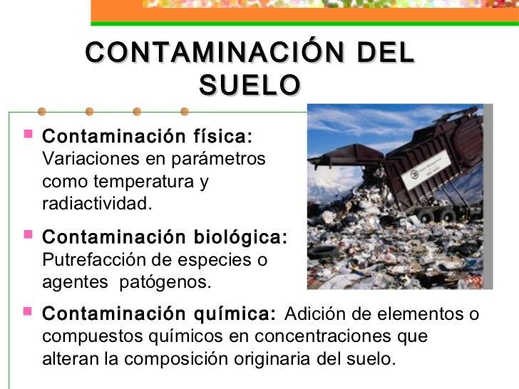 Clase 4 tema 2 transformaciones t xicos en el ambiente for Componentes quimicos del suelo