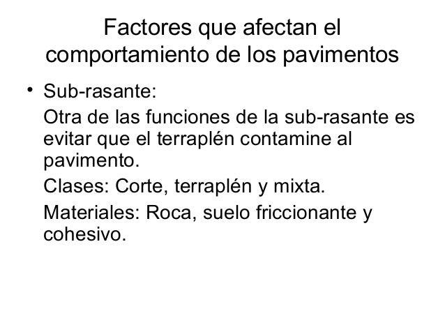 Factores que afectan al pavimento - Que es pavimento ...