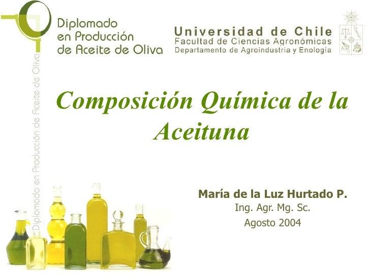 Composición Química de la Aceituna María de la Luz Hurtado P. Ing. Agr. Mg. Sc. Agosto 2004