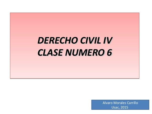 DERECHO CIVIL IVDERECHO CIVIL IV CLASE NUMERO 6CLASE NUMERO 6 DERECHO CIVIL IVDERECHO CIVIL IV CLASE NUMERO 6CLASE NUMERO ...