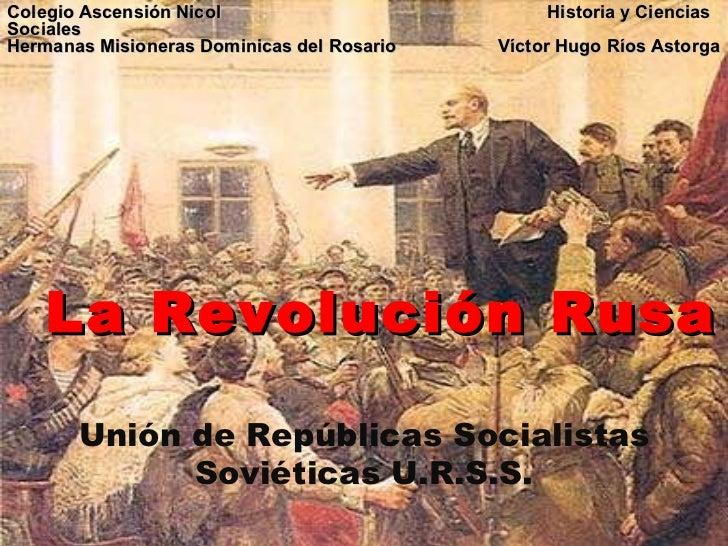 Colegio Ascensión Nicol    Historia y Ciencias Sociales  Hermanas Misioneras Dominicas del Rosario  Víctor Hugo Ríos Astor...
