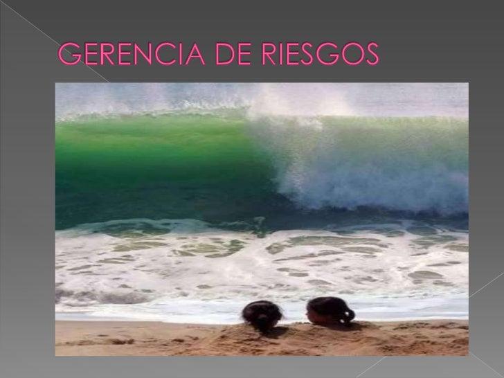 GERENCIA DE RIESGOS<br />
