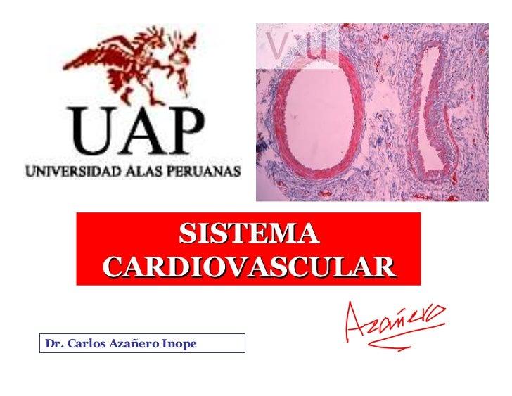 SISTEMA           CARDIOVASCULAR  Dr. Carlos Azañero Inope                        Dr.Carlos Augusto   Azañero Inope       ...