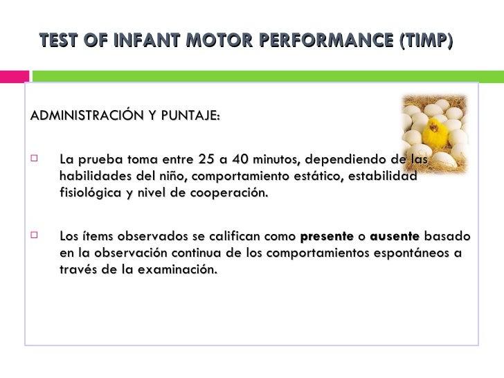 Clase 8 escalas valoracio dm normal timp pdms for Test fisioterapia