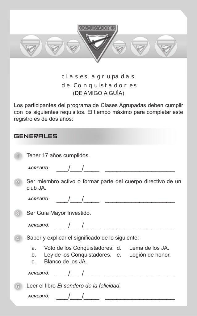 Los participantes del programa de Clases Agrupadas deben cumplir con los siguientes requisitos. El tiempo máximo para comp...