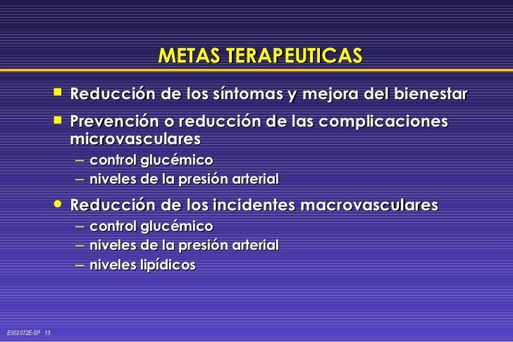 METAS TERAPEUTICAS <ul><li>Reducción de los síntomas y mejora del bienestar </li></ul><ul><li>Prevención o reducción de la...