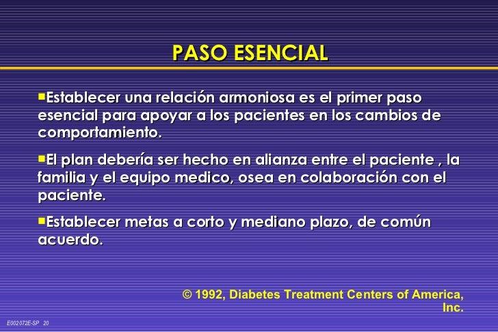 PASO ESENCIAL <ul><li>Establecer una relación armoniosa es el primer paso esencial para apoyar a los pacientes en los camb...