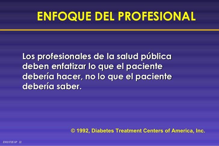 <ul><li>Los profesionales de la salud pública deben enfatizar lo que el paciente debería hacer, no lo que el paciente debe...