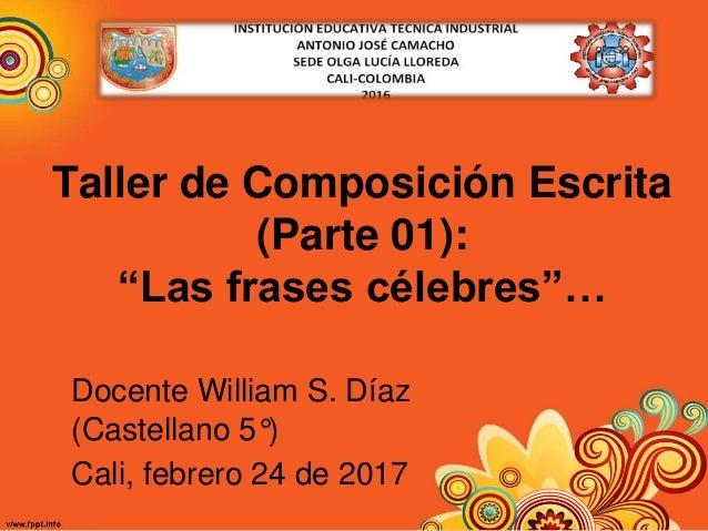 Clase Castellano 5 02 24 17taller Composición Escrita Parte 1