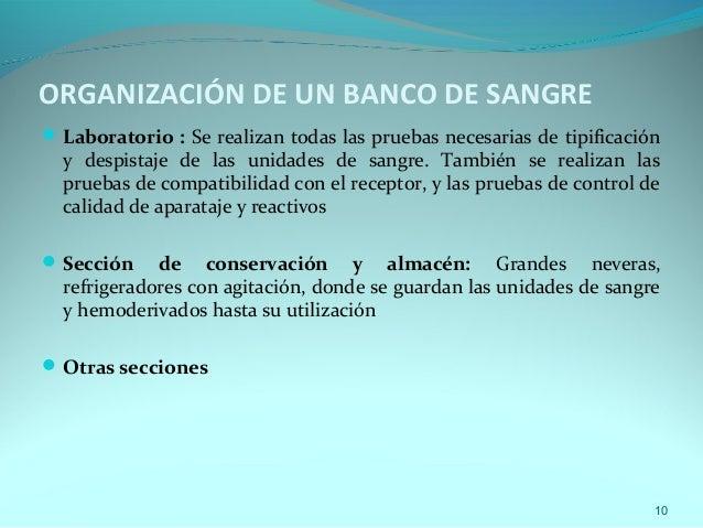 Banco de sangre for Organizacion de un vivero