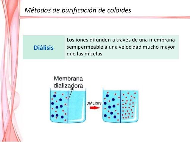 Ultrafiltración La presión hidrostática fuerza la solución contra una membrana semipermeable. Quedan retenidos los sólidos...