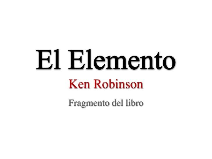 Ken RobinsonFragmento del libro