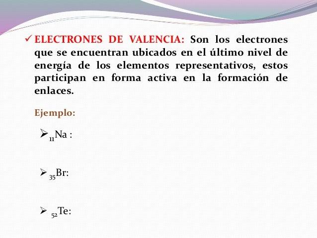  NOTACIÓN DE LEWIS: Es la representación convencional de los electrones de valencia (electrones que intervienen en los en...