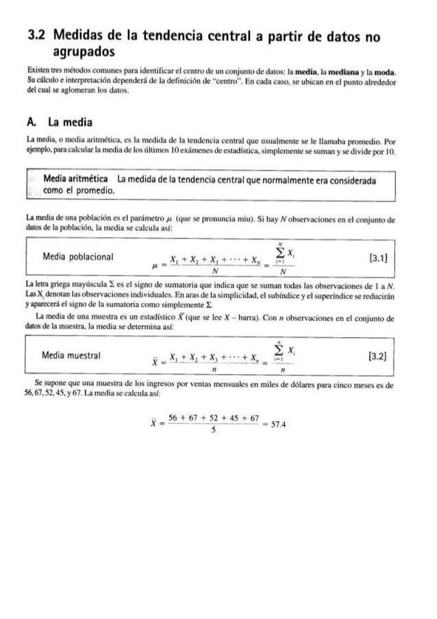 Ejercicios  En los ejercicios 35-38, calcule: a) el rango; b) la media aritmética; c) la desviación media;  Interprete los...