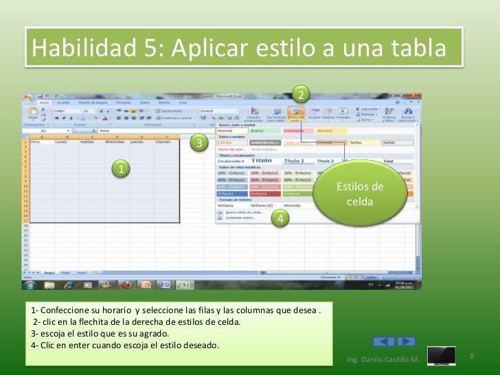 Habilidad 5: Aplicar estilo a una tabla                                                                    2              ...