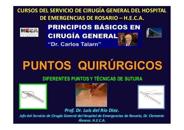 Prof. Dr. Luis del Rio Diez. Jefe del Servicio de Cirugía General del Hospital de Emergencias de Rosario, Dr. Clemente Álv...