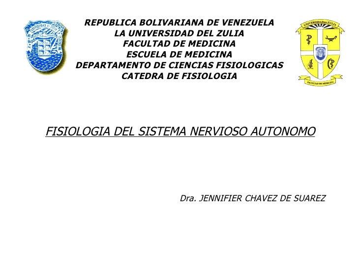 REPUBLICA BOLIVARIANA DE VENEZUELA LA UNIVERSIDAD DEL ZULIA FACULTAD DE MEDICINA ESCUELA DE MEDICINA DEPARTAMENTO DE CIENC...