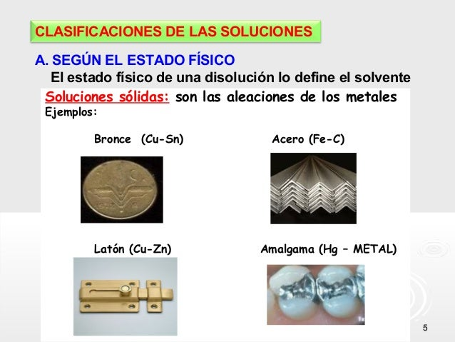 Clase de soluciones for Que tipo de mezcla es el marmol