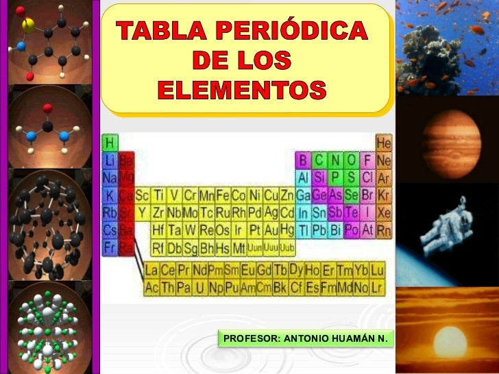Clase de tabla peridica clase de tabla peridica profesor antonio huamn n urtaz Choice Image