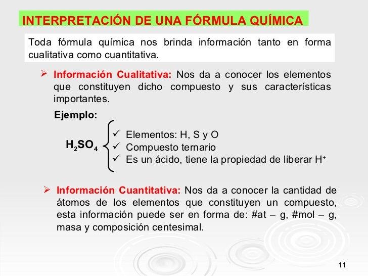 Clase de unidades qumica de masa 11 interpretacin de una frmula qumicatoda frmula qumica nos brinda informacin urtaz Images