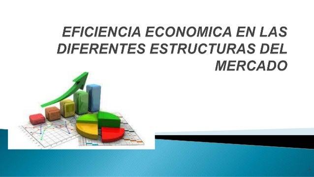 Eficiencia Economica En Las Diferentes Estructuras Del Mercado