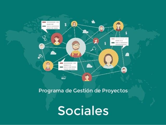 Programa de Gestión de Proyectos Sociales