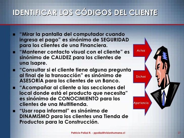 Estilo de atenci n al cliente for Clienti sinonimo