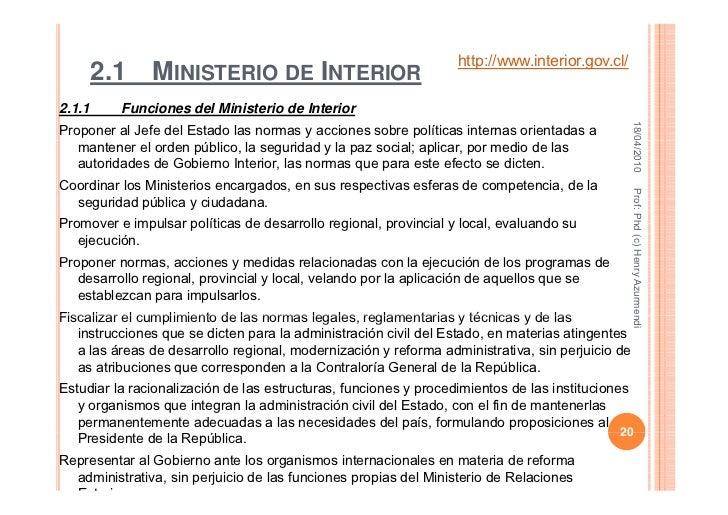 Clase estructura de la nacion 2010 for Estructura ministerio del interior