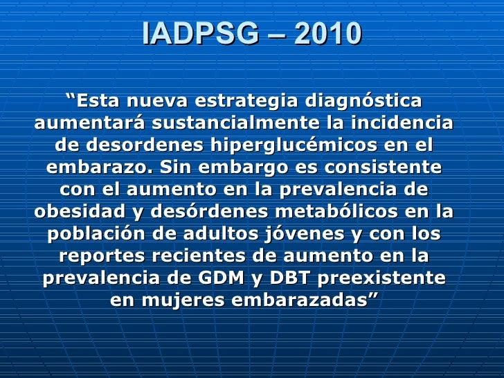 Diabetes Gestacional 2010