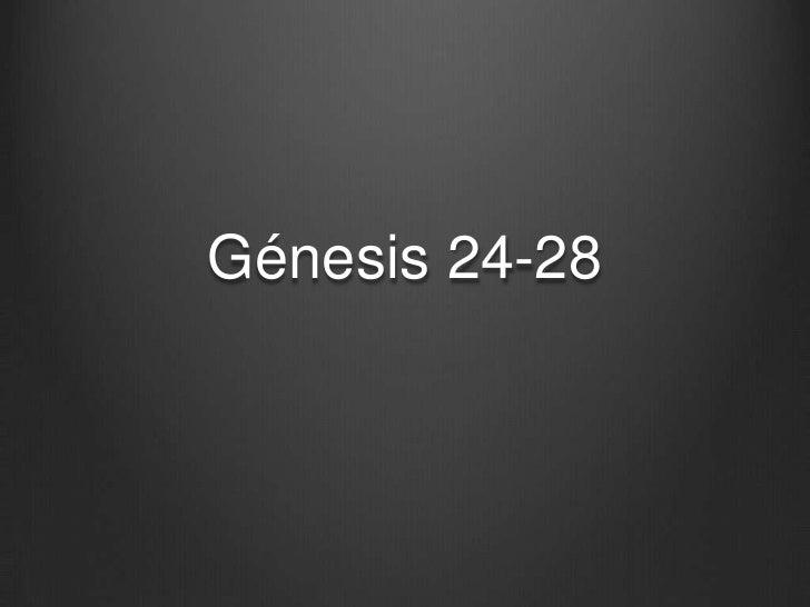 Génesis 24-28