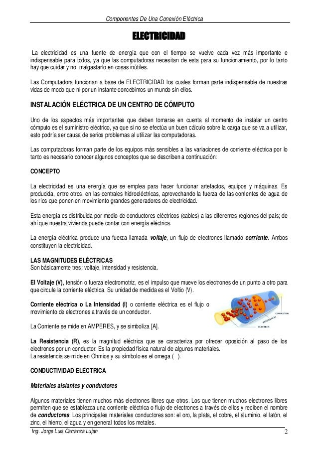 INSTALACION ELECTRICA CENTRO DE COMPUTO Slide 2