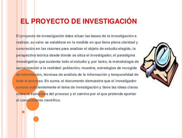 Clase ii  el proyecto de invevestigación Slide 2