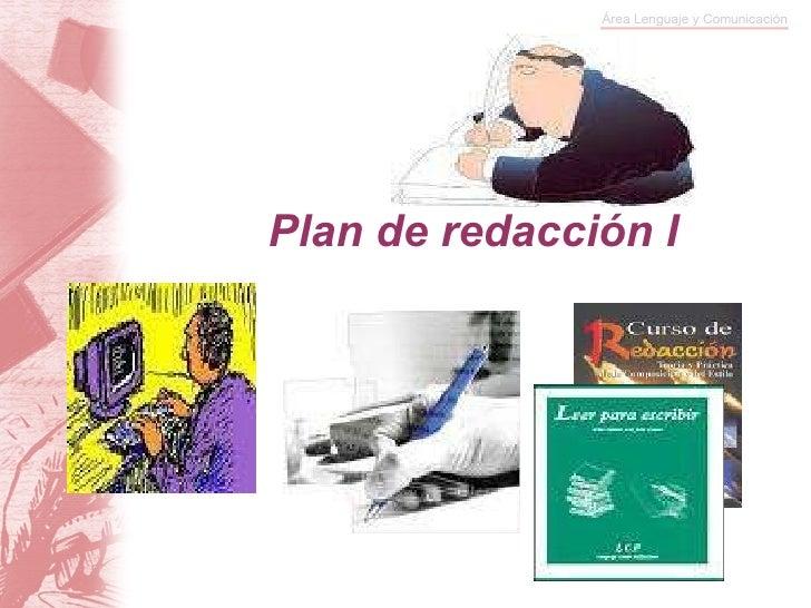 Plan de redacción I