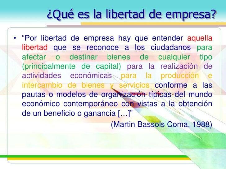 Libertad de empresa propiedad privada y libertad de for Que quiere decir contemporaneo