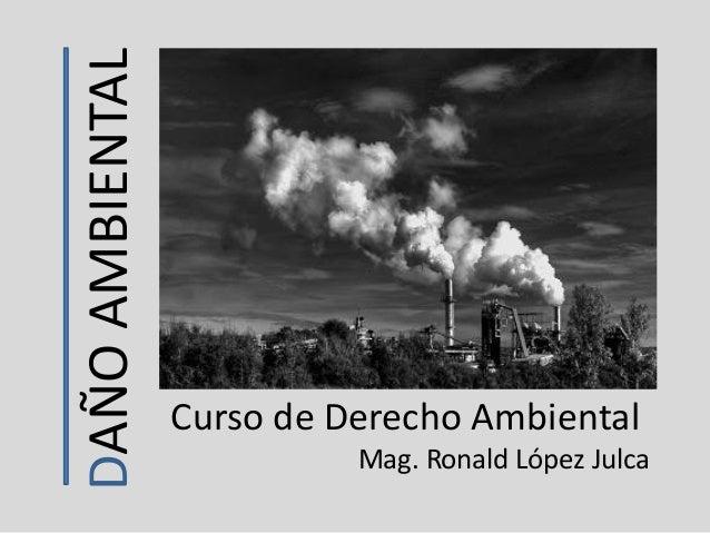 DAÑOAMBIENTAL Curso de Derecho Ambiental Mag. Ronald López Julca