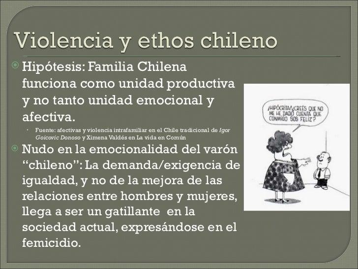  Hipótesis: Familia  Chilena    funciona como unidad productiva    y no tanto unidad emocional y    afectiva.    •   Fuen...